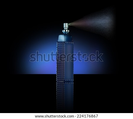 men perfume bottle spray  - stock photo