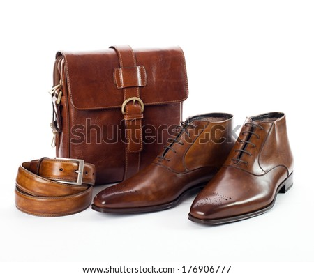 men's accessories - stock photo