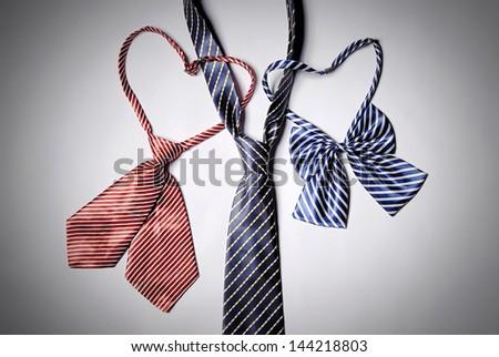 Men's bow tie ties, and women - stock photo