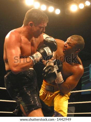 men's boxing - stock photo