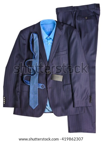 men's business suit - stock photo