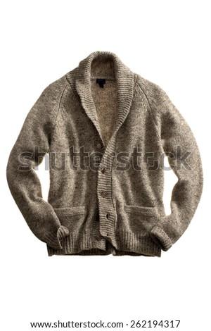 Men's Cardigan Sweater - stock photo