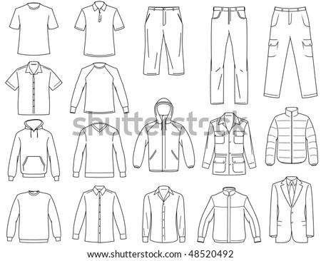 Menâ??s clothes illustration - raster version - stock photo
