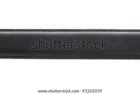 men's leather belt isolated on white - stock photo