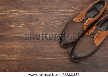 men's leather shoes - stock photo