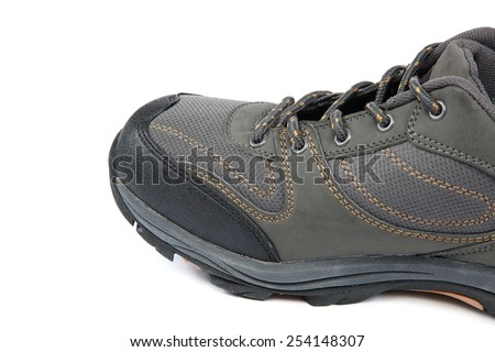 Men's sports shoes. Sneakers on a white background. - stock photo