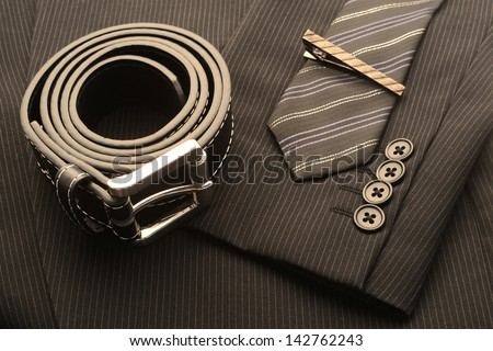 Men's suit and accessories - stock photo