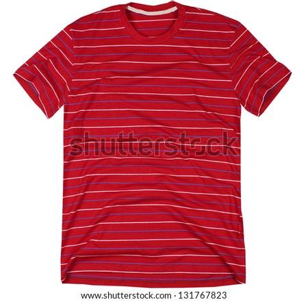 Men's t-shirt isolated on white background. - stock photo