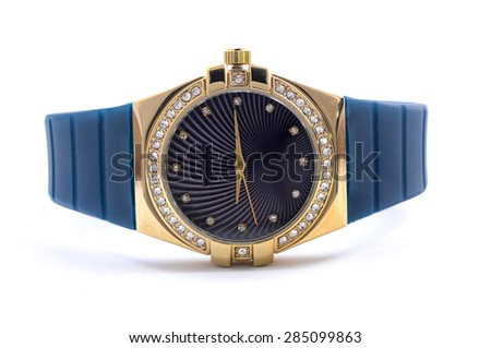 Men's Wrist Watches with a blue strap - stock photo