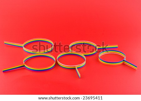 Men's zodiac sign with gay symbolics. - stock photo