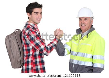 Men shaking hands - stock photo
