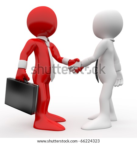 Men shaking hands as a sign of friendship and agreement - stock photo