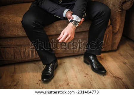 Men shoes. Fashion. Wedding.  - stock photo