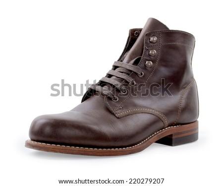 men shoes on white background - stock photo