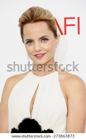 Mena Suvari at the 40th AFI Life Achievement Award Honoring Shirley MacLaine held at the Sony Studios in Los Angeles on June 7, 2012.  - stock photo