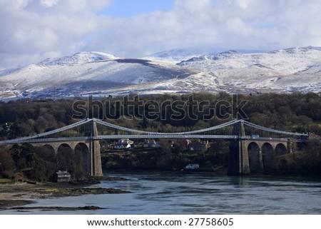 Menai Bridge - stock photo