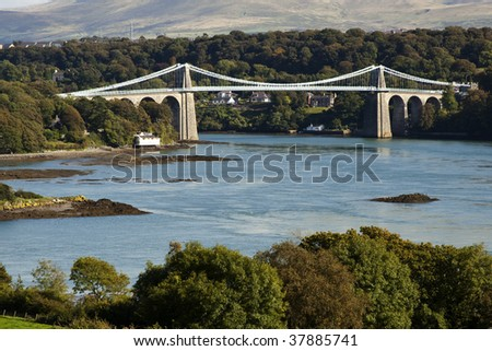Menai Bridge - stock photo