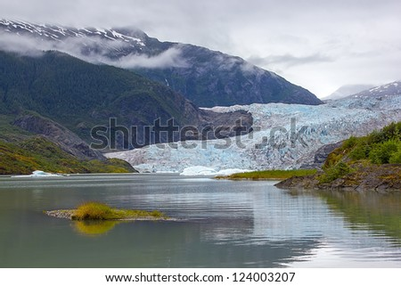 Mendenhall Glacier in Juneau, Alaska - stock photo
