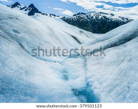 Mendenhall Glacier. Juneau, Alaska.  - stock photo