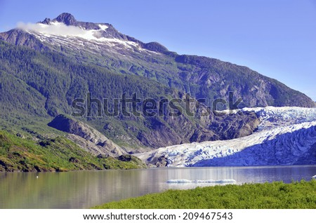 Mendenhall Glacier, Tongass National Forest, Alaska - stock photo