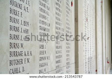 Menin Gate War Memorial - stock photo
