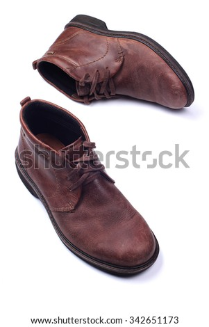 Mens shoes isolated on white background - stock photo