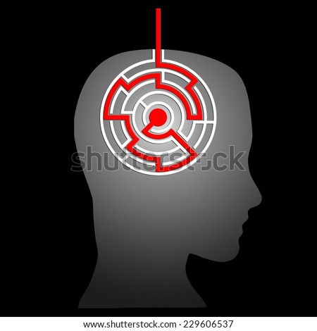 mental labyrinth - stock photo