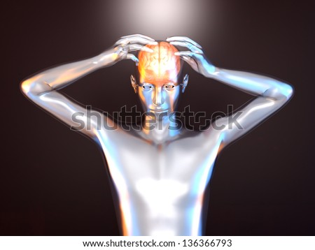 Mental power and creativity. 3d rendered Illustration. - stock photo
