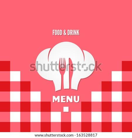 menu chef design illustration - stock photo