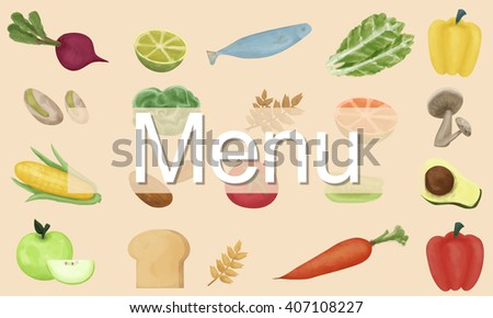 Menu Choice Food Beverage List Selection Option Concept - stock photo