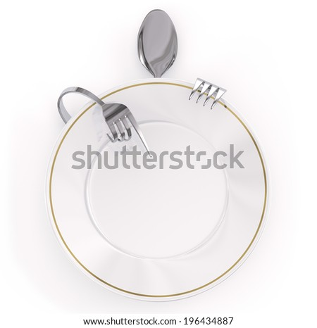 menu dish - stock photo