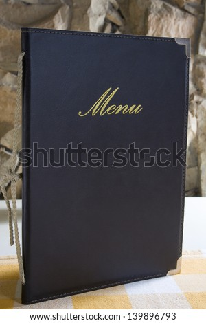 Menu on the table - Copy space - stock photo
