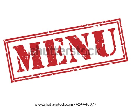 menu stamp - stock photo