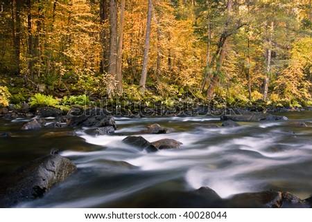 Merced River Rapids - stock photo