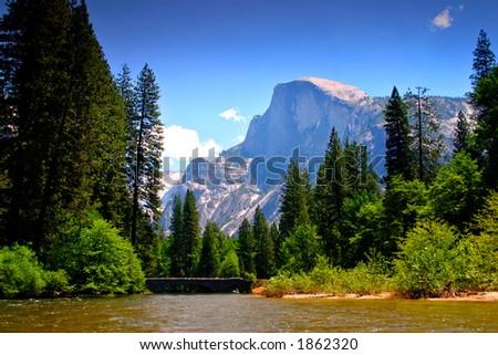 Merced River, Yosemite National Park - stock photo
