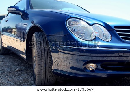 Mercedes Benz coupe - stock photo