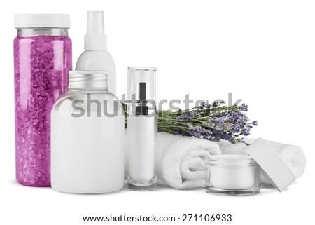 Merchandise, Perfume, Cosmetics. - stock photo