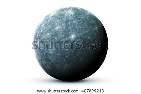 Mercury - High resolution 3D images presents planets of the solar system. This image elements furnished by NASA - stock photo