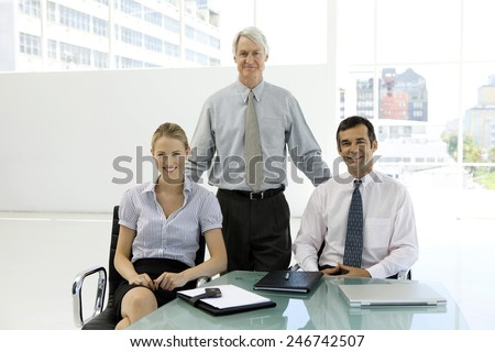 Merger and acquisition. Management team - stock photo