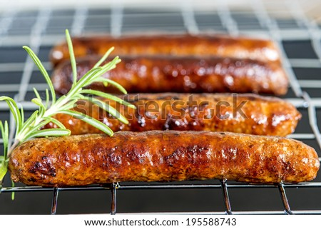 Merguez, North-African sausage, roasted - stock photo