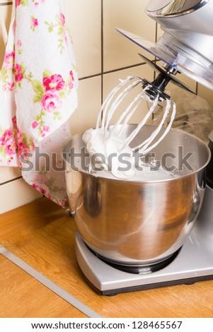meringue in food processor - stock photo