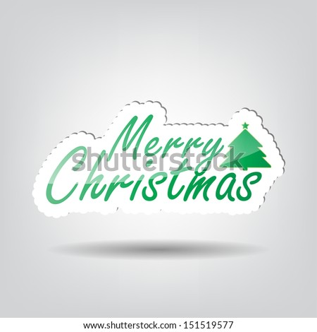 Merry Christmas background with space for your text (Raster) - stock photo