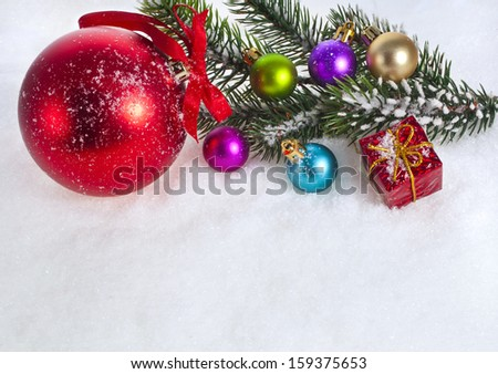 Merry christmas card background with copy space  - stock photo