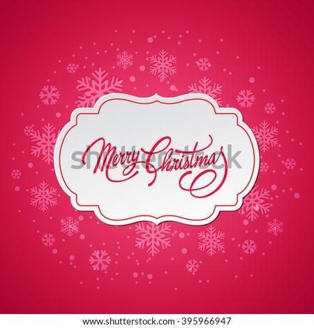 Merry Christmas greeting card.  - stock photo
