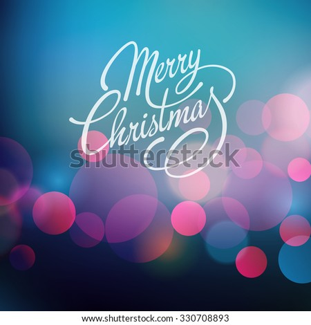 Merry Christmas Lettering Design.  - stock photo