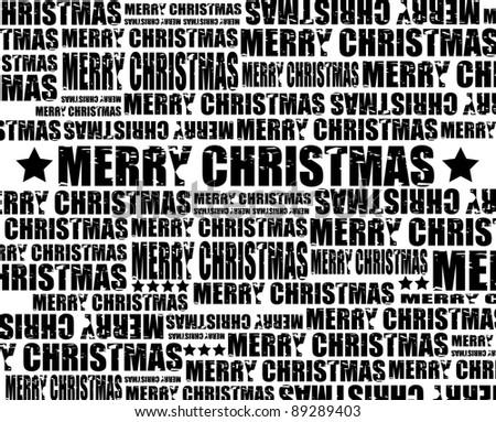 Merry Christmas, raster - stock photo
