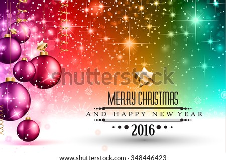 Merry Christmas Seasonal Background for your greeting cards, New Years Flyer, Chrstmas dinner invitation, posters and do on. - stock photo