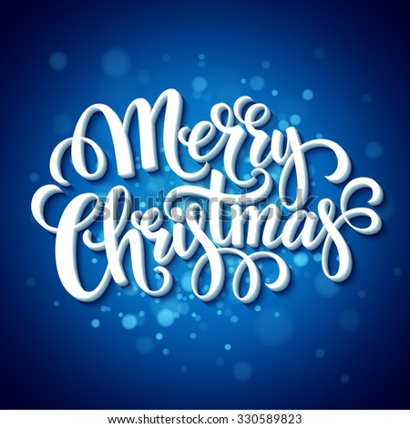 Merry Christmas typography. illustration  - stock photo