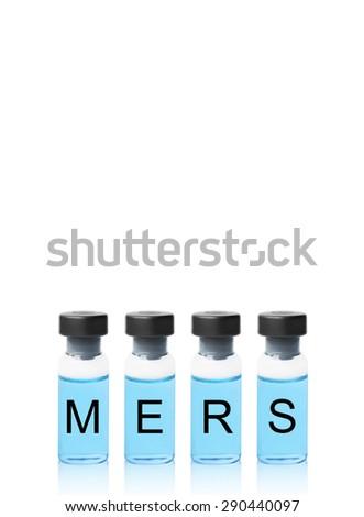 Mers vaccine - stock photo