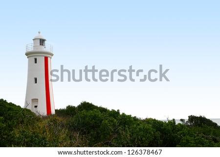 Mersey Bluff Lighthouse in Devonport on the north coast of Tasmania, Australia - stock photo
